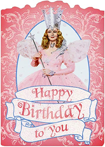 Paper House Glinda Sparkling Pink Die Cut Glitter Wizard of Oz Birthday Card for Her/Girls -