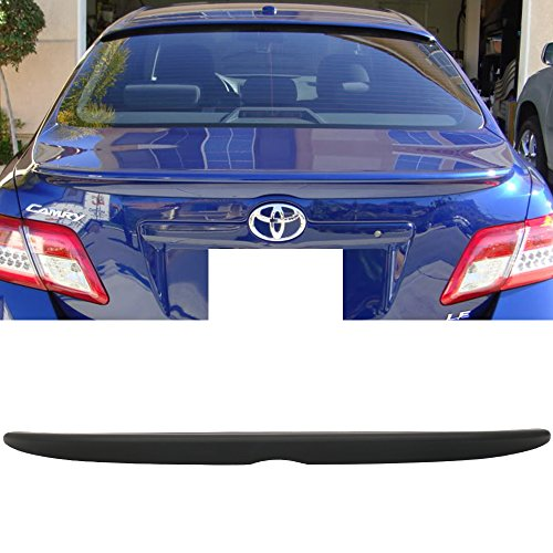 Trunk Spoiler Fits 2007-2011 Toyota Camry | OE Style Primer Matte Black ABS Car Exterior Trunk Rear Wing Tail Roof Top Lid by IKON MOTORSPORTS | 2008 2009 2010 (Lid Toyota Trunk Camry)