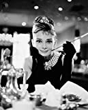 Audrey Hepburn-Breakfast at Tiffany's-Black and White, Movie Mini Poster Print, 16 by 20-Inch