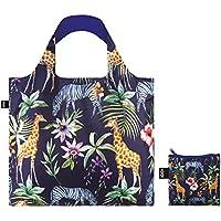 LOQI LQB1-WIZE Wild Shopping Bag, Zebras, L Capacity