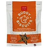 Cloud Star Soft and Chewy Buddy Biscuits Dog Treats, Peanut Butter, 6-Ounce Pouches (Pack of 4), My Pet Supplies