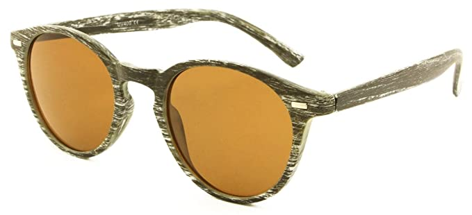 b9c07cf5217 SKYMOOD Retro Wood Grain Unisex Sunglasses  Amazon.co.uk  Clothing