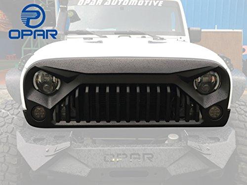 opar-front-matte-black-gladiator-vader-grille-for-2007-2017-jeep-wrangler-jk-rubicon-sahara-sport
