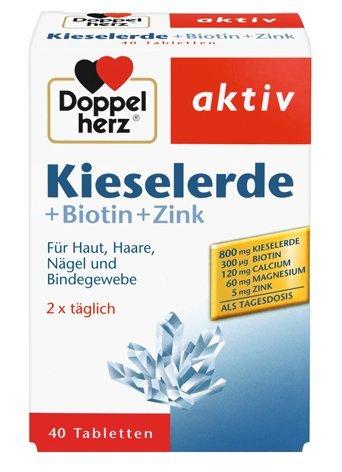 DOPPELHERZ Kieselerde + Biotin + Zink Tabletten 40 St (1 x 40 St)