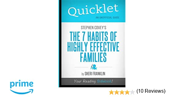 Workbook 7 habits of highly effective teenagers worksheets : Amazon.com: Quicklet - Stephen Covey's The 7 Habits of Highly ...