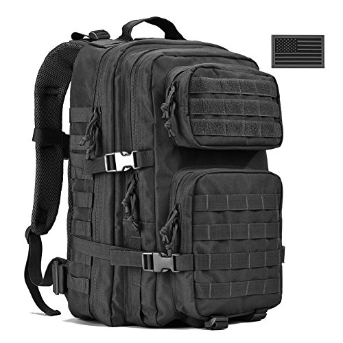 Military Tactical Backpack, Large Army 3 Day Assault Pack Molle Bug Out Bag Backpacks Black