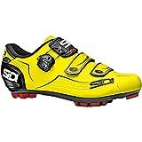 Sidi Trace Cycling Shoe - Men's Yellow Flou/Black, 44.0