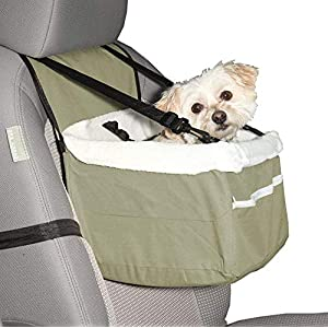 Ideas In Life Portable Car Pet Booster Seat with Clip-On Safety Leash and Zipper Storage Pocket 46