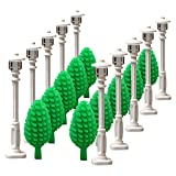 (US) White Street lamp Tree for LEGO garden house parts building block toy street light children gifts by SPRITE WORLD