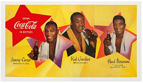 XXL Poster Coca-Cola Advertising 1950s Featuring Floyd Patterson