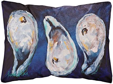 Caroline's Treasures MW1112PW1216 Oysters Give Me More Canvas Fabric Decorative Pillow