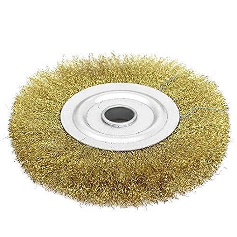 125 mm Diámetro 16 mm Arbor ondulado de alambre de Acero de la rueda Cepillo Para amoladora Angular: Amazon.com: Industrial & Scientific