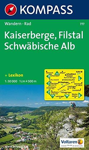 Kaiserberge - Filstal - Schwäbische Alb: Wanderkarte mit Radrouten und Kurzführer. 1:50000