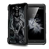 Untouchble Case for [ZTE Blade Max 3 Case, ZTE Max XL, ZTE Max Blue LTE] Heavy Duty Shell Case with Built In Kickstand Rotating Heavy Duty Holster Belt - Midnight Wolf