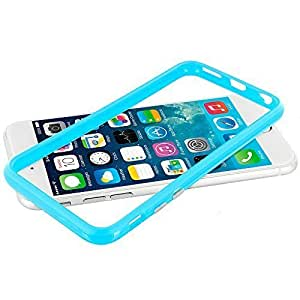 Accessory Planet(TM) Baby Blue TPU Bumper Frame with Metal Buttons Case Cover for Apple iPhone 6 Plus (5.5)