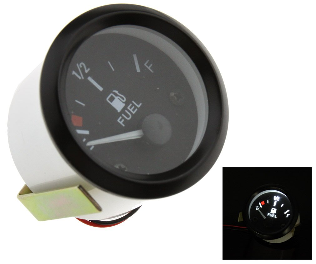 Micro Trader 2 52mm Universal Car 12V Fuel Level Gauge Meter With Fuel Sensor E-1//2-F 12V