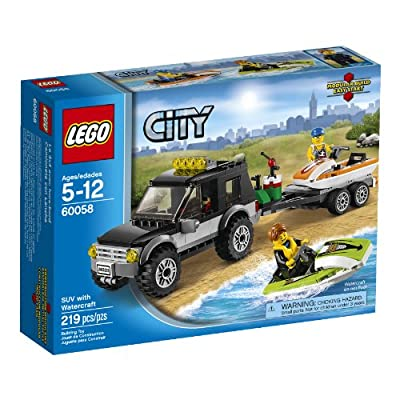 LEGO City Great Vehicles 60058 SUV with Watercraft: Toys & Games