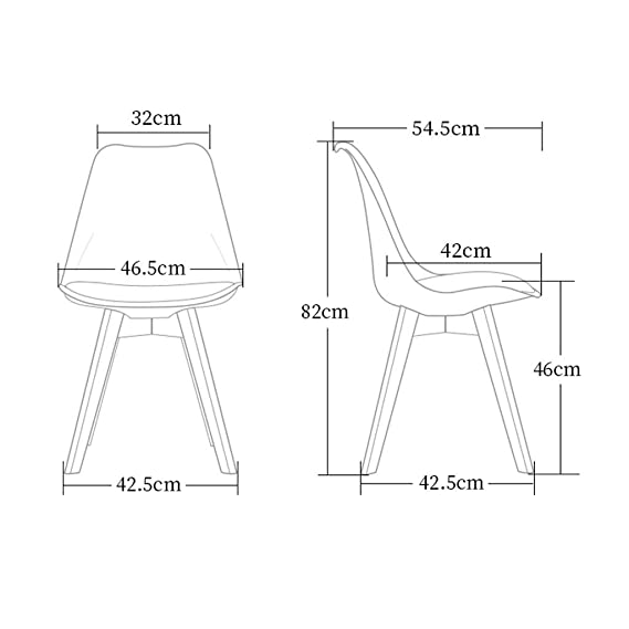Amazon.com: Meijiale Furniture Silla clásica ligera y ...