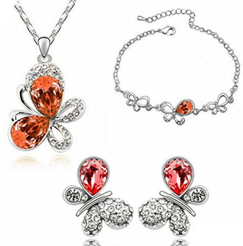 (Chariot Trading - 18K Gold Plated Crystal Trendy Crystal Jewelry Sets)