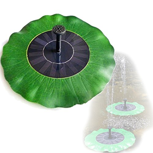 Mini Solar Fountain Lotus leaf Pattern Floating Spray Bird bath by Univegrow
