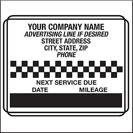 Amazon Com Custom Oil Change Stickers Design 4 5000