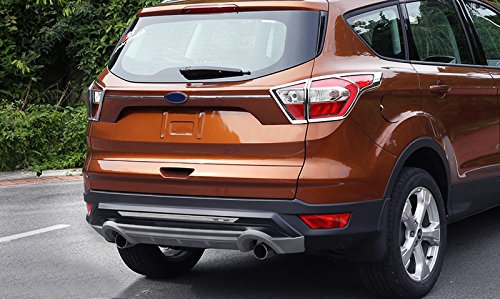 HIGH FLYING ABS Chrome Rear Tail Light Lamp Cover Trim Decoration 4pcs For Ford Escape Kuga 2017 2018