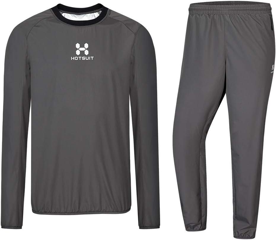 HOTSUIT Sauna Sportanzug Herren Saunaanz/üge Abnehmen Schwitzanzug Fitness Lang Sport Shirt Trainingshose