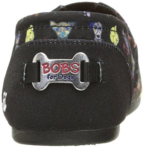 Skechers Bobs from Womens Bobs Plush-Posh Pup Flat Black JVSQj