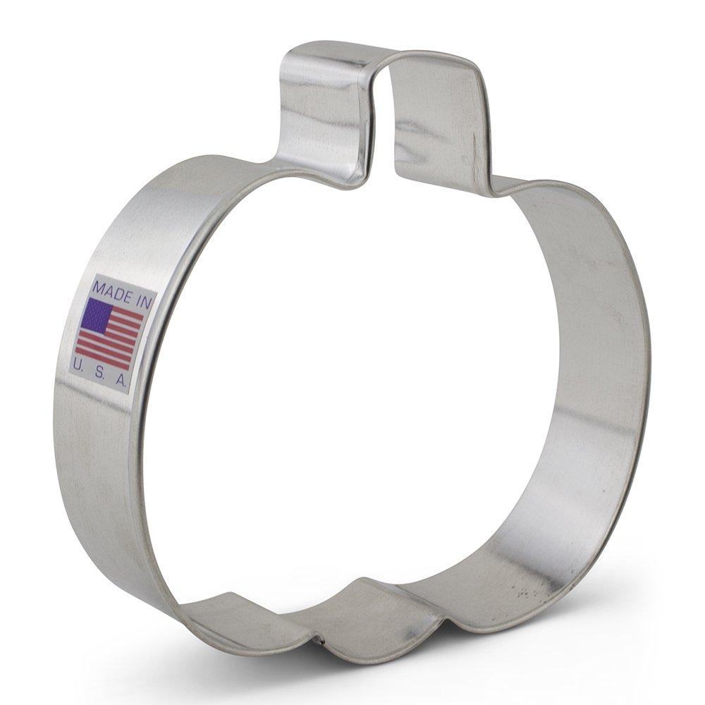 Jack O Lantern Pumpkin Cookie Cutter - 4 Inches - US Tin Plated Steel Ann Clark Cookie Cutters 1070N