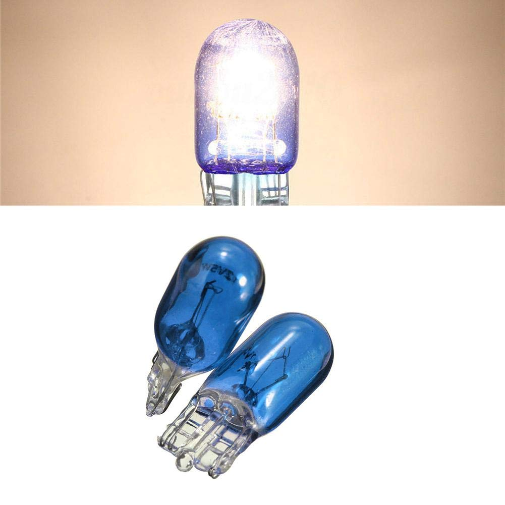 HITTIME 10Pcs T10 Wedge Halogen W5W 501 194 Car LED Interior Light Bulbs Auto Truck Lamp Bulb Blue