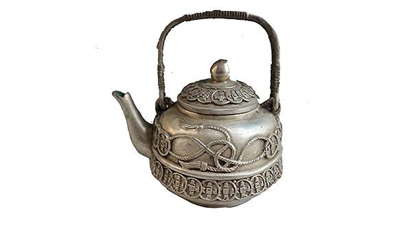 El cobre tetera de artesanía de bronce de níquel galvanoplastia antigüedades índice originalidad adornos olla de cobre clásica: Amazon.es: Hogar