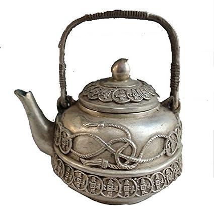 El cobre tetera de artesanía de bronce de níquel galvanoplastia antigüedades índice originalidad adornos olla de