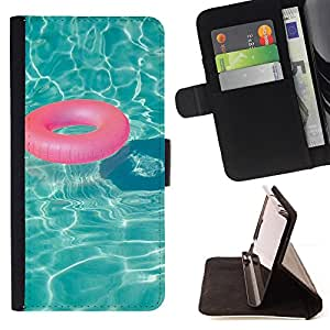 Jordan Colourful Shop - Pool Teal Water Lifesaver Summer Relax For Apple Iphone 6 - Leather Case Absorci???¡¯???€????€????????