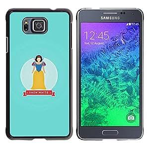 Be Good Phone Accessory // Dura Cáscara cubierta Protectora Caso Carcasa Funda de Protección para Samsung GALAXY ALPHA G850 // Snow Baby Blue Fairytale