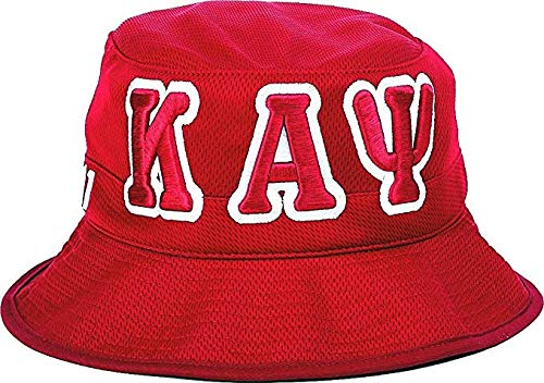 Kappa Alpha Psi Big Letter Mens Floppy Bucket Mesh Hat [Crimson Red - 60 cm] ()