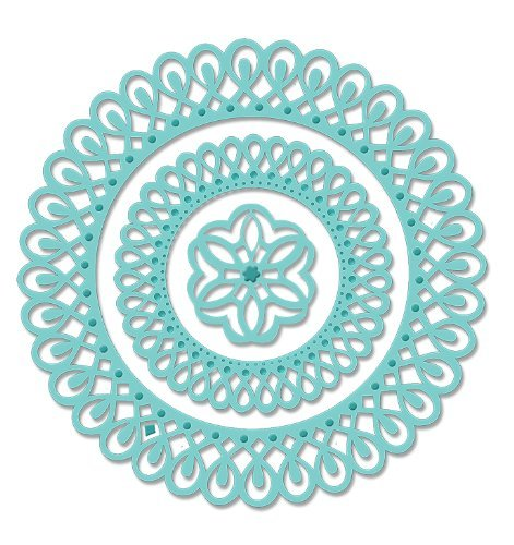 Sweet Dixie Dies Metal Dotted Doily Circle Frame Die, Gold by Sweet Dixie by Sweet Dixie