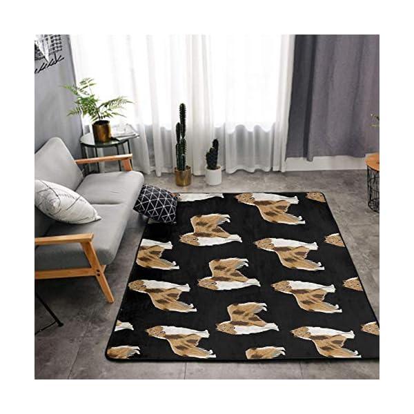 NiYoung Area Rugs for Boys Girls Room Bedroom Non-Slip Kids Carpet Baby Nursery Decor Modern Rug, Rough Collie Dog 1