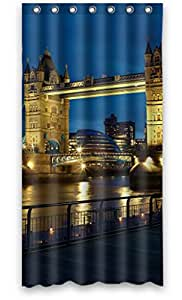 "Modern Design Waterproof Tower Bridge London Landscape Shower Curtains, 36""(w) X 72""(h), Polyester, Best For Family"