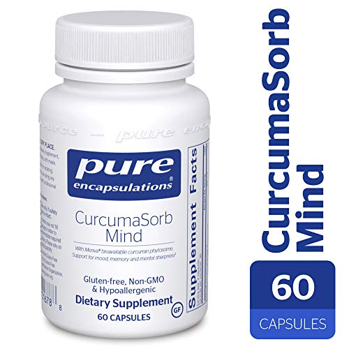 Pure Encapsulations – CurcumaSorb Mind – Hypoallergenic Blend with Curcumin and Polyphenols to Promote Mood, Memory and Mental Sharpness* – 60 Capsules