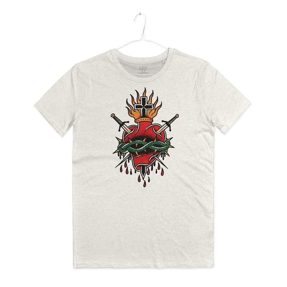 INSIDETSHIRT - Camiseta para Hombre, diseño de Tatuaje de corazón ...