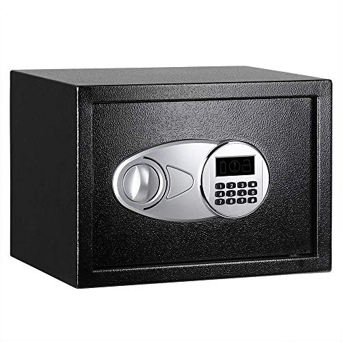 AmazonBasics Security Safe Box, 0.5 Cubic Feet , Black - 25EI