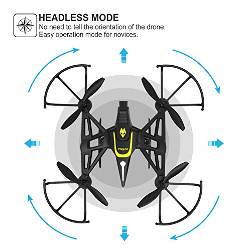 Drone-with-Camera-Screen-Tomzon-New-Generation-F185DH-FPV-RC-Quadcopter-with-Altitude-Hold-Function-Headless-Mode-2MP-HD-Camera-and-58Ghz-FPV-LCD-Screen-Monitor-Black