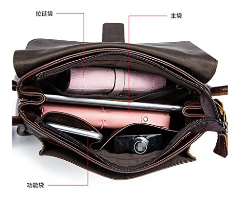 RFID Genuina 1 Bloqueo de Sucastle Mujer trabajo a 1 para Hecho bolsos Genuino Cuero Gran Capacidad Ideal hombro y Mano viaje RR8Sznqv