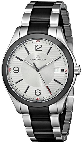 Maurice Lacroix Men's MI1018-SS002-131 Miros Analog Display Analog Quartz Silver Watch