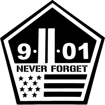 911 never forget vinyl decal sticker bumper car truck window 18 wide rainbow holographic