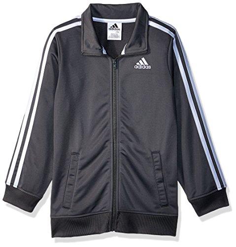 adidas Boys' Big Iconic Tricot Jacket, Dark Grey, Medium