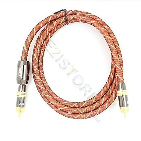3ft PREMIUM Digital Coaxial Audio/Video RCA Cable Cord M/M Coax Metal Degauss