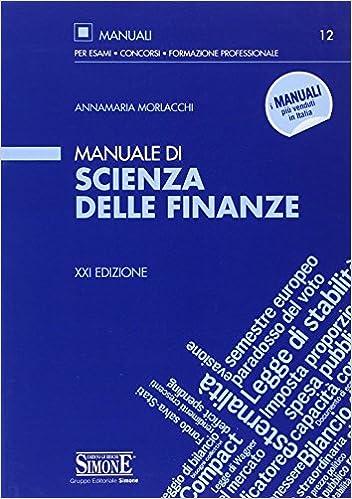 di delle it Annamaria finanze scienza Amazon Manuale Morlacchi zxTOEB
