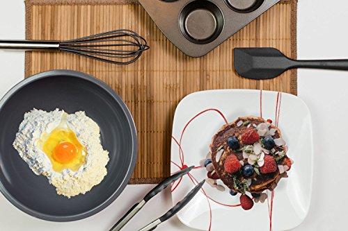 Silicone Kitchen Utensil Set, 10 Piece Best Kitchen Utensils, Non-Stick Cooking Utensils Set, Heat Resistant Kitchen Gadgets with Solid Core for Cooking Baking BBQ (Black)
