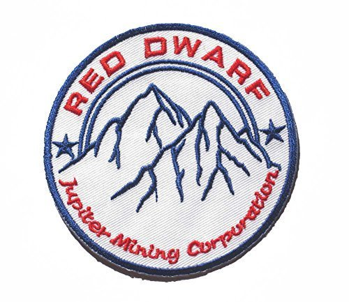"""UPC 704725838640, Red Dwarf JUPITER MINING CORP Logo sew iron on Patch Badge Embroidery 8.5x8.5cm 3.5"""" RD-01"""